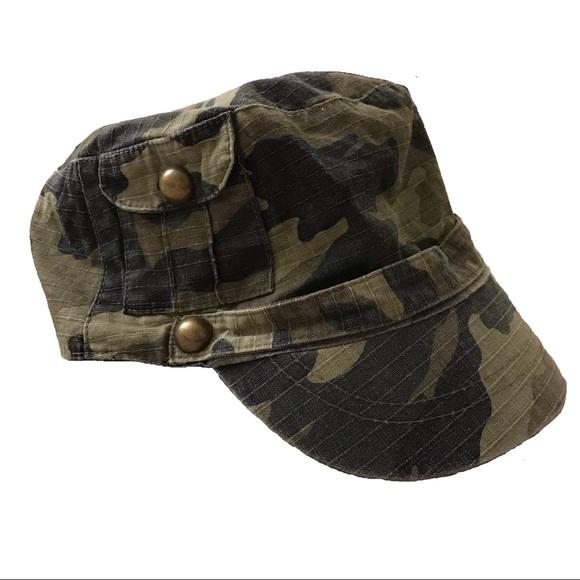 Camo Military Cadet Hat Cap NWOT